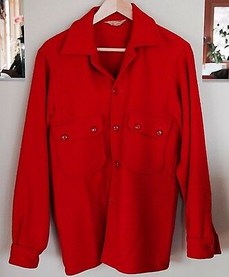 Vintage Mens Official Boy Scouts of America Red Wool Jacket