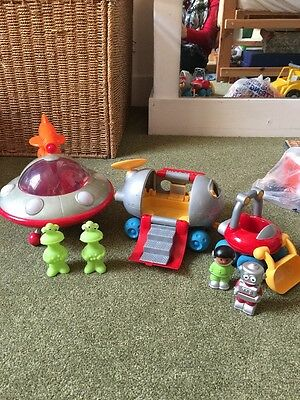 ELC Happyland Moon Buggy And Alien Spaceship - Sounds And Lights Working