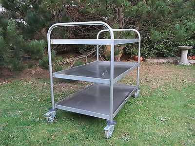Stainless Steel Three Tier Commercial Heavy Duty Catering Trolley French