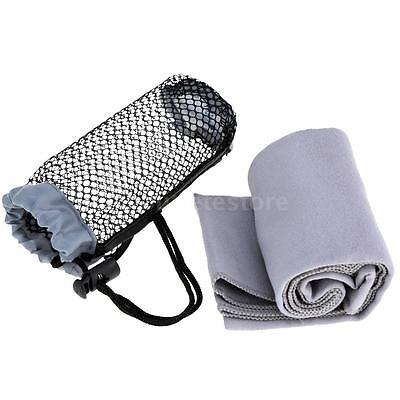 BLUEFIELD Quick-drying Towel Microfibre Towel Gym Sport Travel Camping Grey J4D6