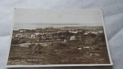 Vintage  Postcard West Kirby From Caldy Hill