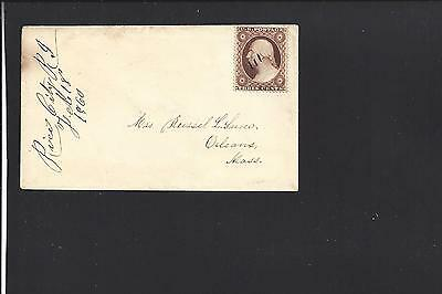 Rice City Rhode Island Cover,#26 Pen Cancel,ladies Cvr,kent 1828/68 R/6 Scarce