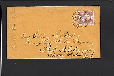 Elizabethtown, New York Cover, S.o.n. Cancel.  Essex 1821/op