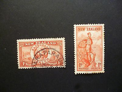 New Zealand 1936 and 1937 Health stamps Used