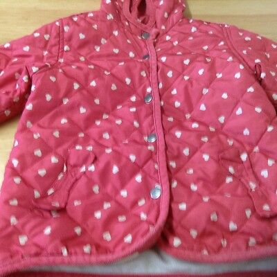 Next Girls Red Hooded Jacket Size 4-5 Years