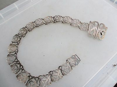 Antique Silver Plate Nurses Belt Curtain Tie Back Vintage Art Nouveau Old