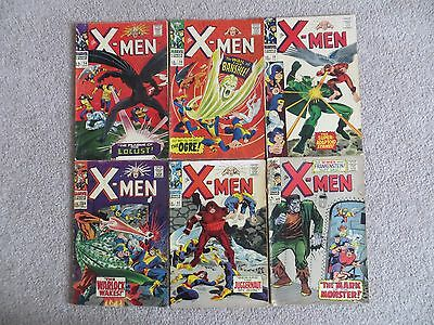 X-Men # 24, 28, 29, 30, 32, 40 ALL SHOWN AND GRADED