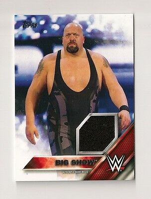 2016 Topps Wwe Then Now Forever Big Show Authentic Shirt Relic #153/299
