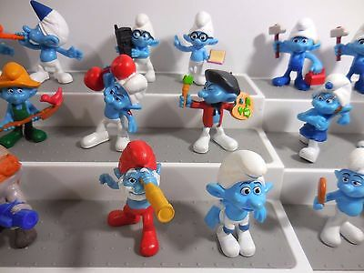 Lot of 18 Smurfs Figures 2011 & 2013 Assorted Collectible Toys
