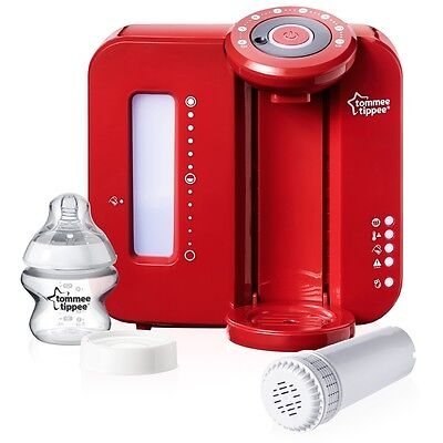 Tommee Tippee Closer to Nature Red Perfect Prep Machine, Baby Feeding Bottle