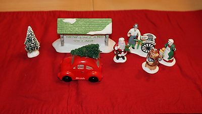 Dept 56 New England Village LOT VW Car with Tree ++ Department 56