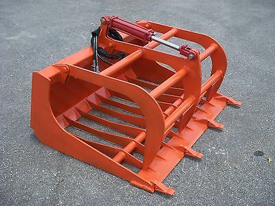 """Kubota Compact Tractor Loader Attachment - 48"""" Rock Bucket Grapple - Free Ship!!"""