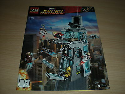Lego Instruction Manual - (76038) - Super Heroes  Attack on Avengers Tower *New*