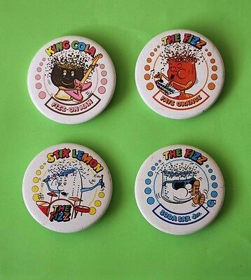 """the fizz"" badge collection of 4 retro/vintage badges"