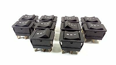 10 Pcs Switch Toggle ON/OFF/ON Arcolectric Rocker DPDT  250V AC 16A 10(4)A T85u