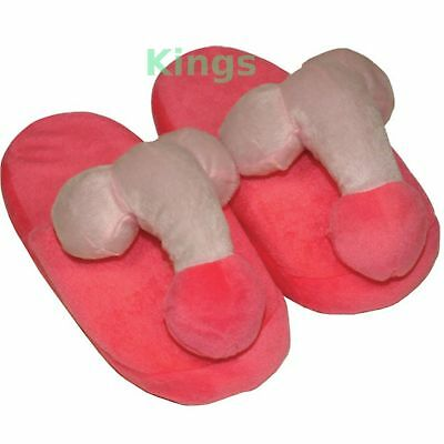 Naughty Rude Willy Willie Slippers Adult Novelty Fun Soft Fluffy Gift Stag Hen