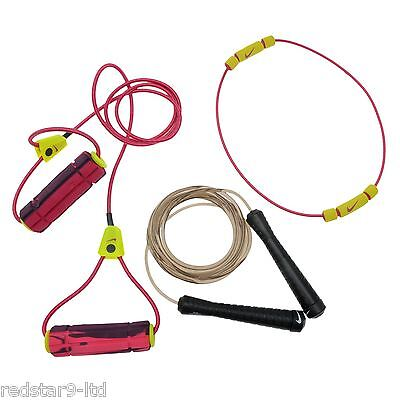 Nike Gym Home Fitness Training Speed Rope + Resistance Bands Light + Medium New