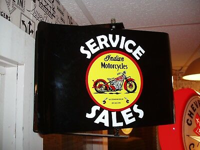 Indian Motorcycle 50S Era Spinning Wall Mount Ad Sign