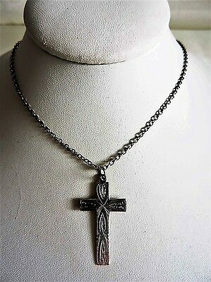 Vintage Sterling Silver Cross/Silver Crucifix