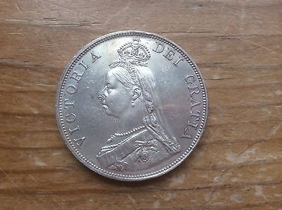 1889 Great Britain double florin @@@ must see@@