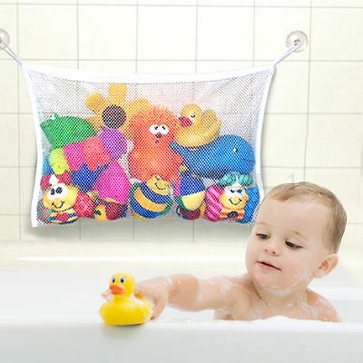 UK Kids Baby Play Time Bath Shower Toy Tidy Storage Suction Cup Bag Bathroom