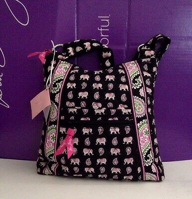 NWT Vera Bradley Large Hipster in Pink Elephants