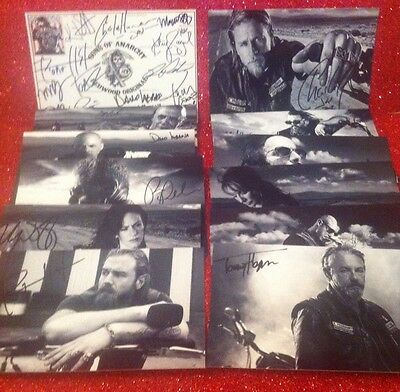 Sons Of Anarchy Signed Autograph Collection Set Huge Joblot Bundle Gift Present