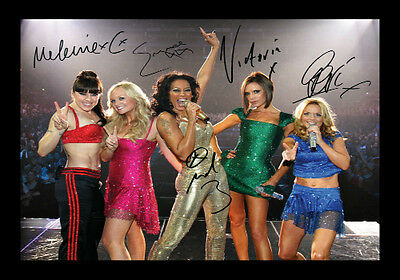 Spice Girls Signed Autograph A4 Framed Xmas Gift Present READ DESCRIPTION
