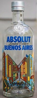 Absolut Vodka Limited Edition Buenos Aires Argentina Collector Empty Bottle