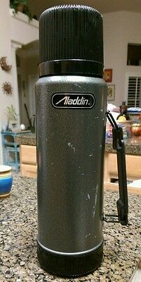 VINTAGE ALADDIN 1 QUART THERMOS SB950H Gray And Black! Made in the USA!