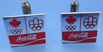 Coca Cola Cufflinks Olympic Games Montreal 1976 Collectible Advertising
