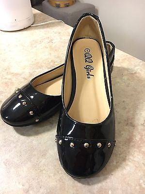 Girls Shoes Patent Black Ballet Flats Size 1