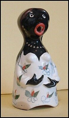UNSIGNED **LARGE BLACK SINGING LADY*** PIE BIRD FUNNEL VENT by STUART BASS w/box