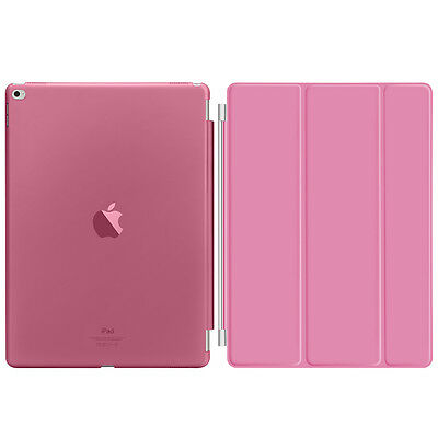 """Pink Slim PU Leather Smart Magnetic Stand Cover Case for Apple iPad Pro 12.9"""""""