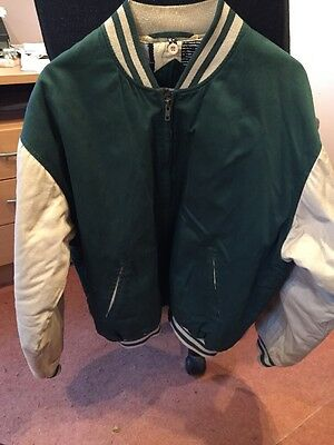 Men's Quilted Bomber Jacket Size Medium