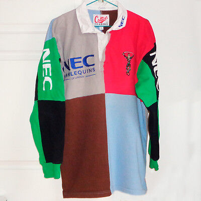 Harlequins of London - Maillot rugby vintage, rugby shirt, camiseta - Taille L