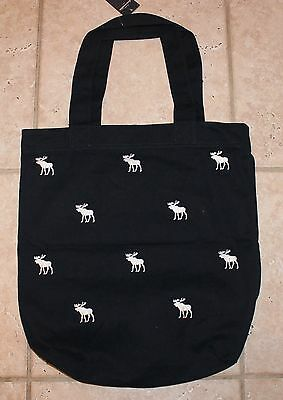 NWT Abercrombie Girls Navy Blue With White Moose Tote Bag Purse - LAST ONE!