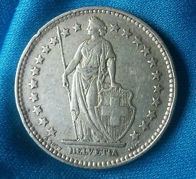 Switzerland 2 Francs 1940 Coin Silver