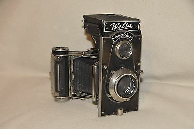 Nice and rare WELTA SUPERFEKTA camera with COMPUR RAPID ! (ca 1935)