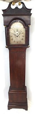 Antique English 8 Day Weight Driven Grandfather Longcase Clock W Nickals Wells