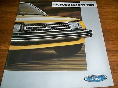 1983 Ford Escort Brochure French Canadian