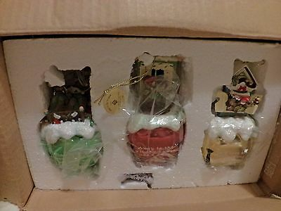 Charming Tails MINT 3 SCENES NIGHT BEFORE CHRISTMAS JINGLE BELLS LARGE SET 7(T8)
