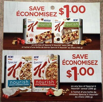 SAVE $10 Kellogg's Special K Nourish Cereal Bars Coupons CANADA ONLY