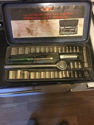 40 Of Socket Set, Metal Box New Old Stock