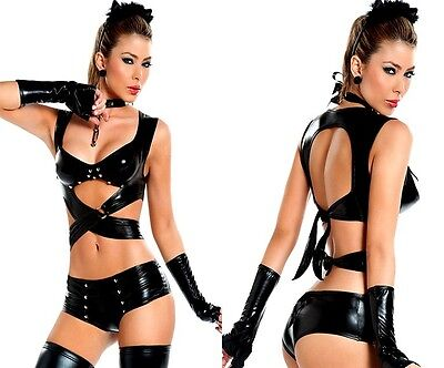 Sexy Intimo Lingerie Completo corpetto body lingerie CATWOMAN super