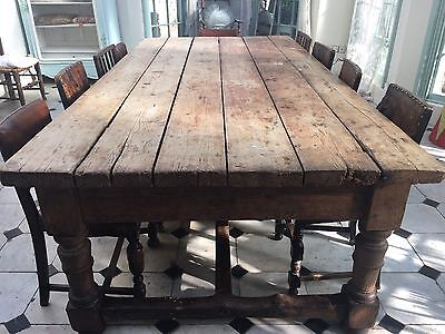 Rustic Antique Very Large (rare) Kitchen Table