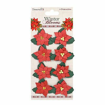 Dovecraft Winter Blooms Paper Flower - Poinsettia shape