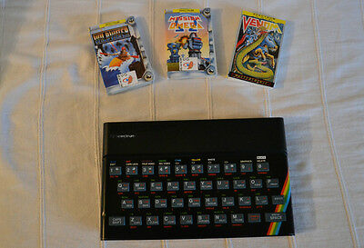 Sinclair ZX Spectrum 48K  AV MODED WITH THREE GAMES