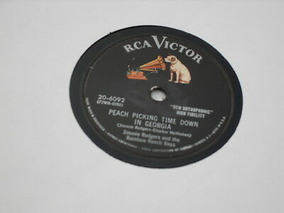 "JIMMY ROGERS Rare US Country 78 ""PEACH PICKING TIME IN GEORGIA"" on RCA"