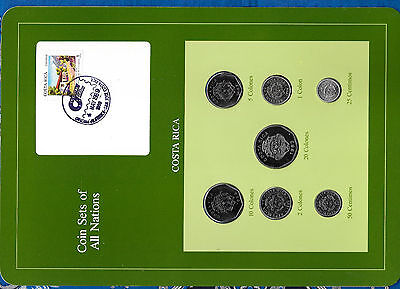 Coin Sets of All Nations Costa Rica w/card 1982-1986 UNC 50 Centavos 1982